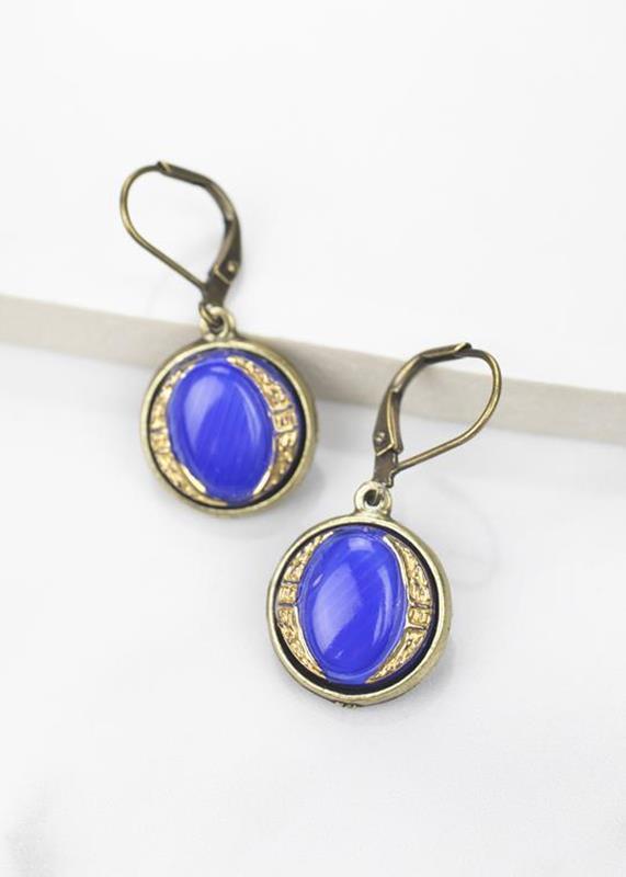 Cornflower Blue Earrings,01-D885B