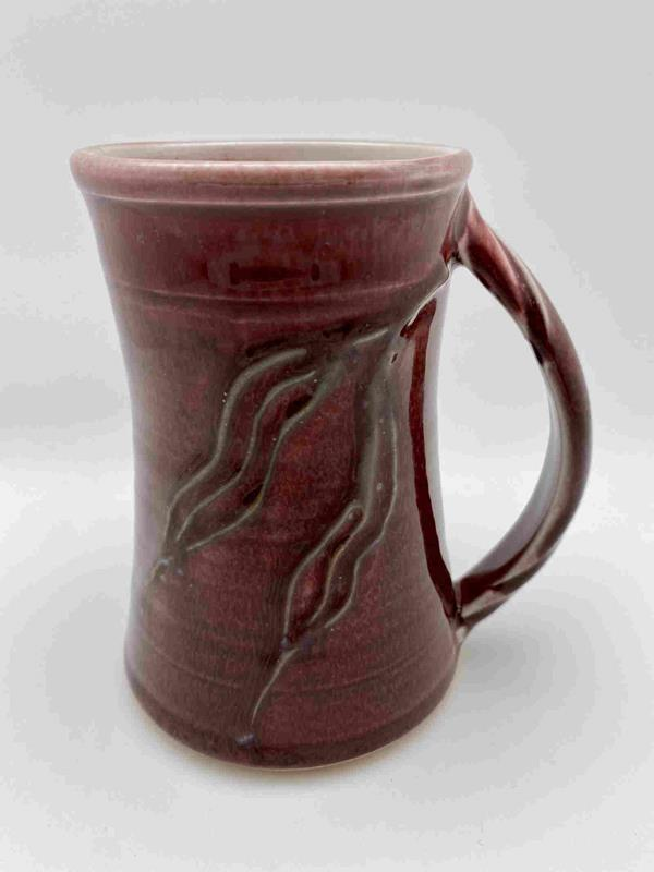 Red Dacey Porcelain Mug